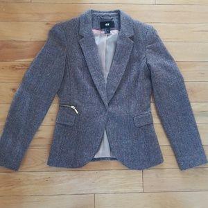 Like New! H&M wool herringbone tweed blazer 6